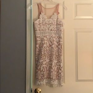 Soieblu white lace dress